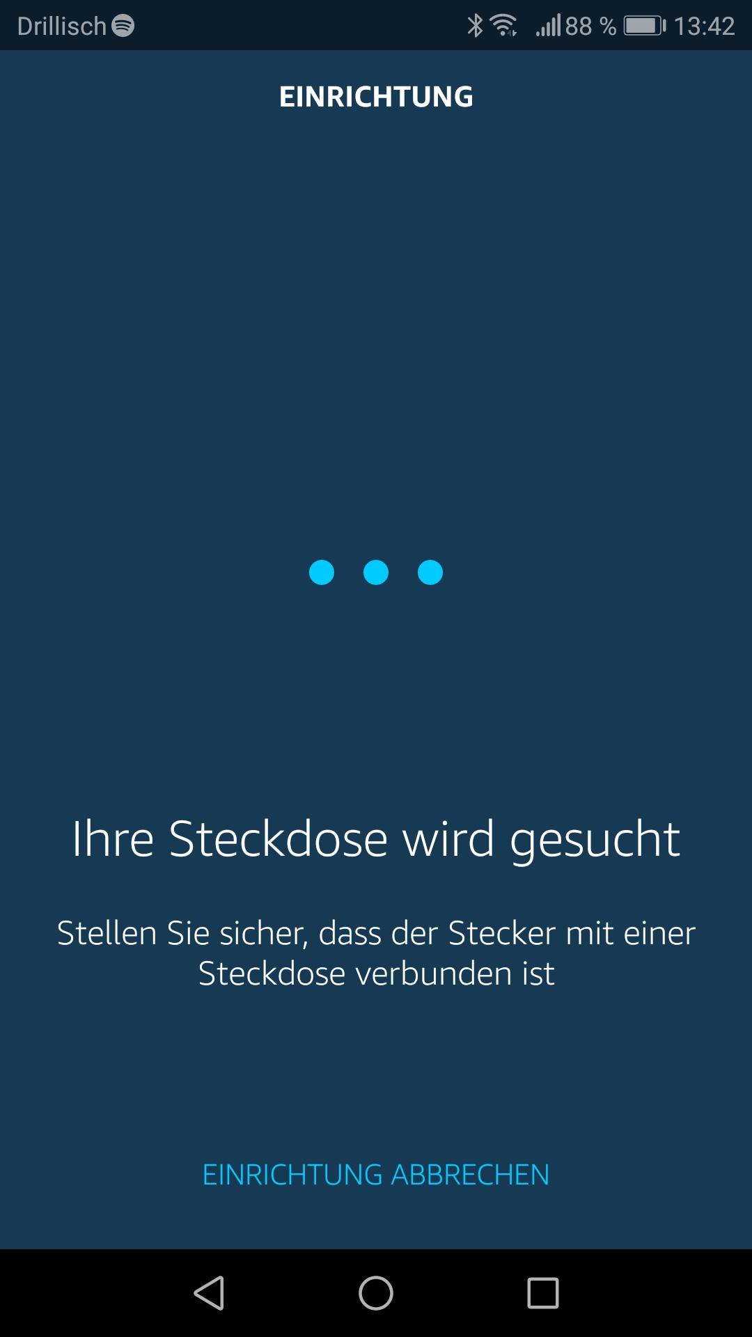 Smartphone App: Steckdose wird gesucht