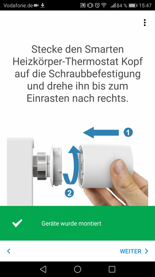 Montageanleitung Tado Thermostat