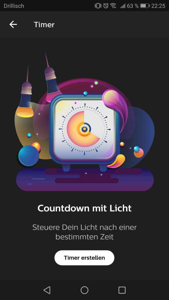Phillips Hue App Countdown mit Licht Screenshot 1