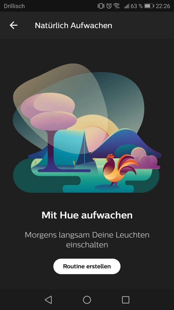 Phillips Hue App Countdown mit Licht Screenshot 2