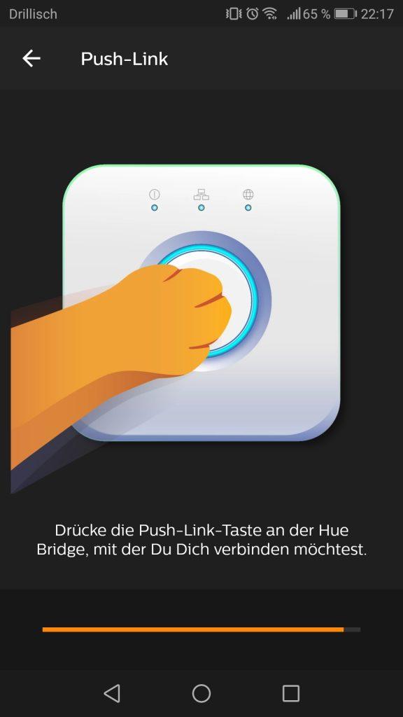 Phillips Hue Inbetriebnahme und Installation der App Screenshot 2