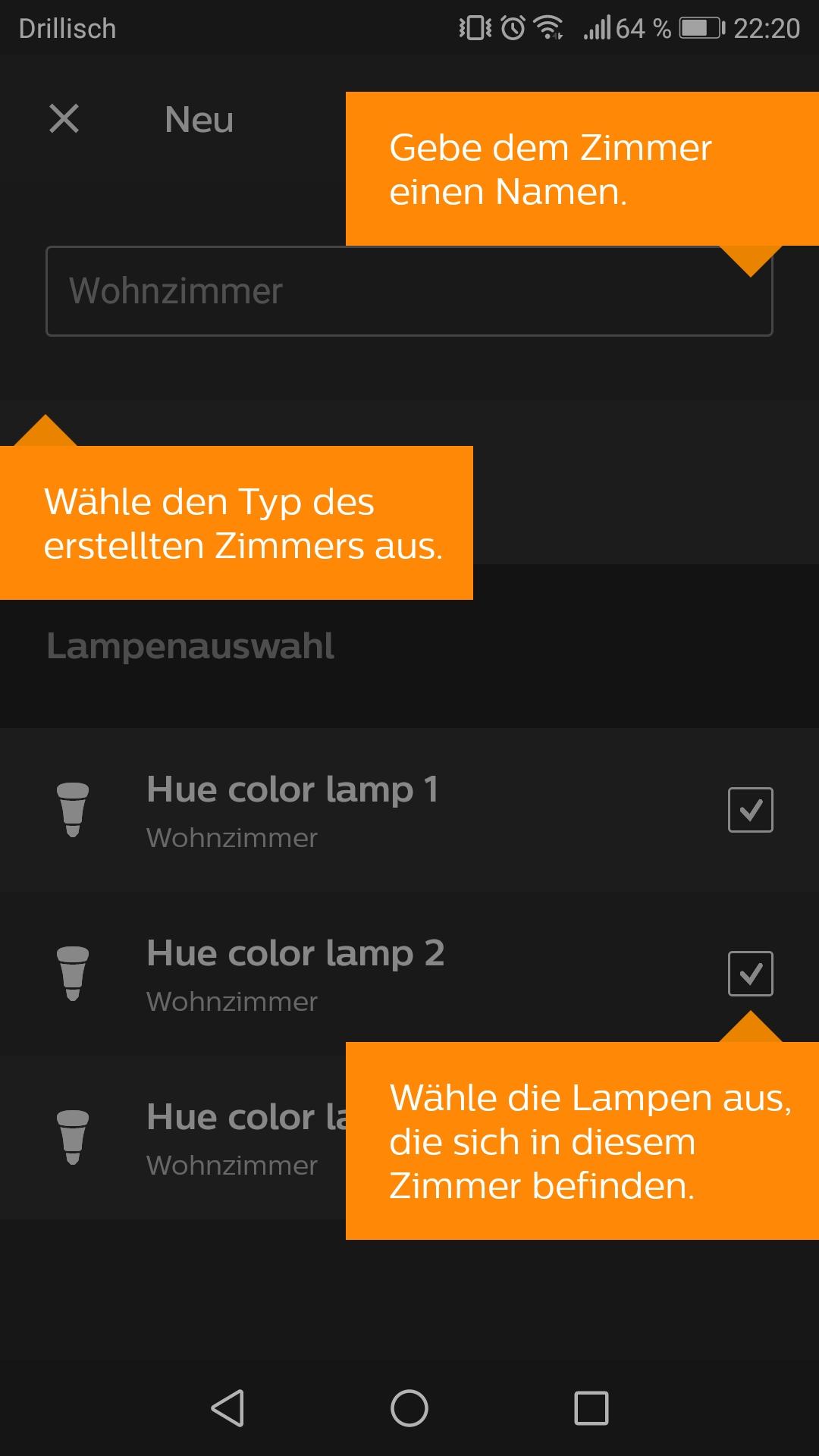 Zimmer einrichten Hue App