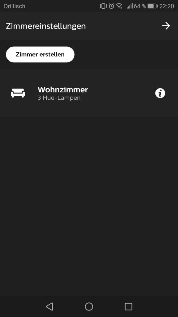 Phillips Hue Inbetriebnahme und Installation der App Screenshot 6