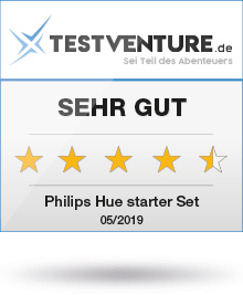 "Phillips Hue Starter Set Award von Testventure ""sehr gut"""