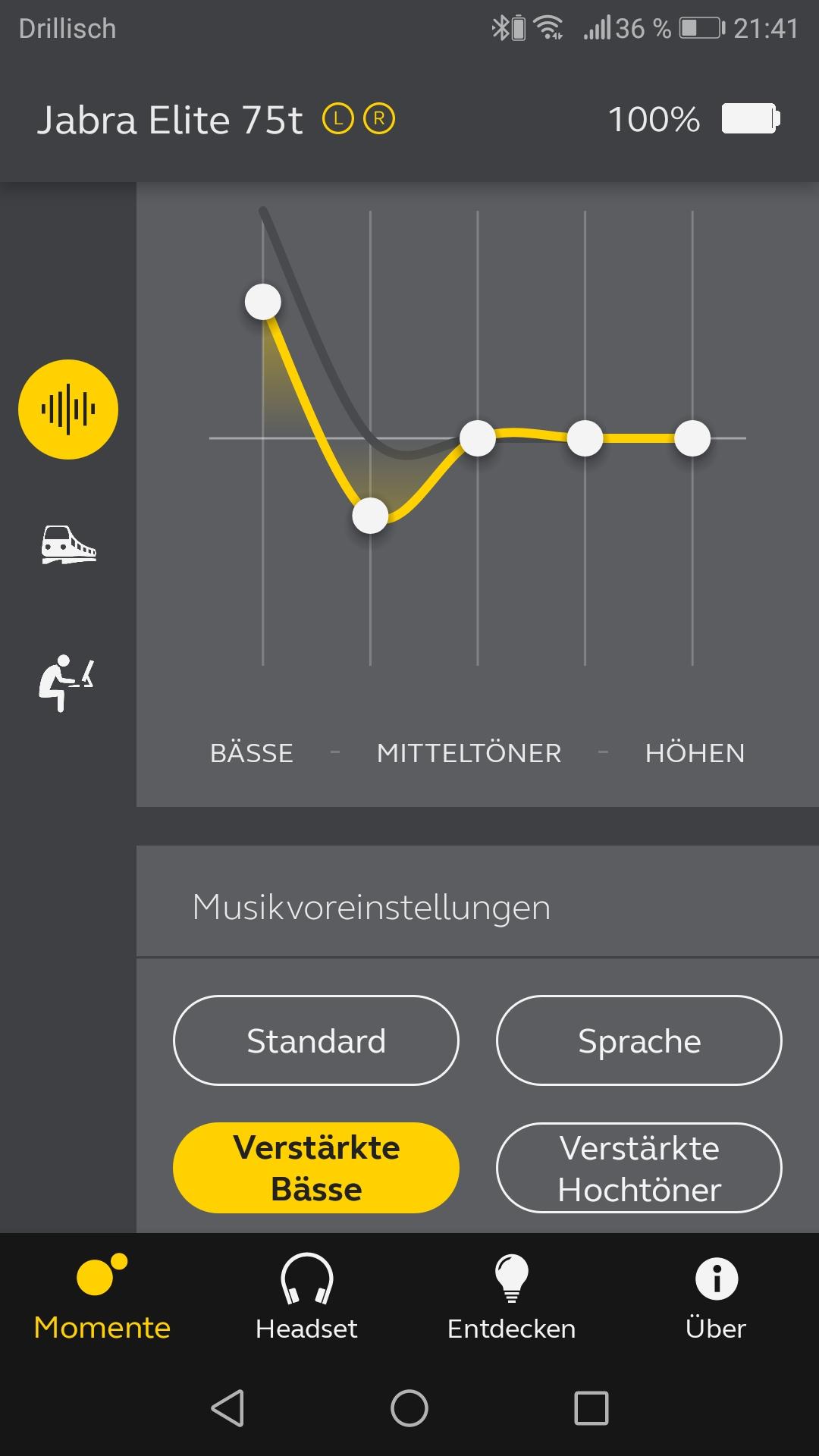 Jabra App Equalizer Screenshot
