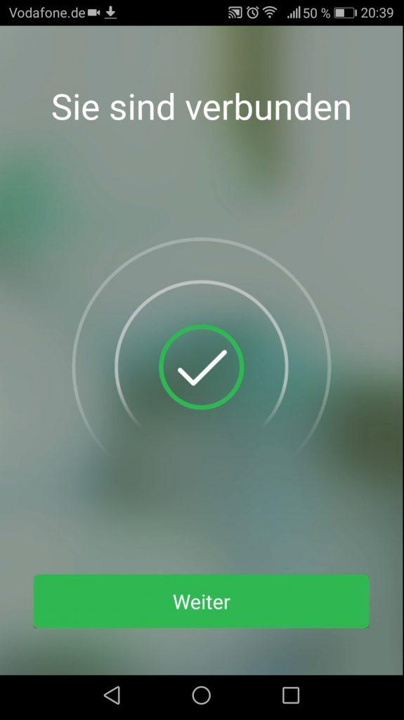Wiser App Installation abgeschlossen