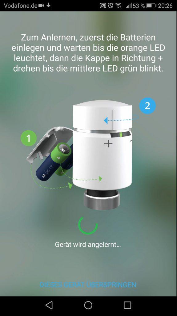 Wiser App Installation Thermostat
