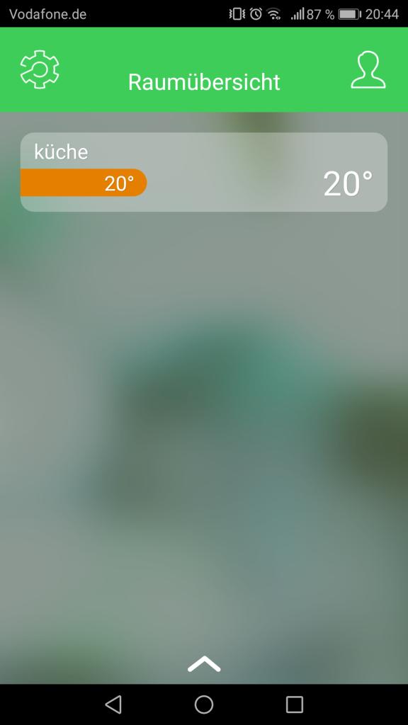 Wiser App Raumanzeige