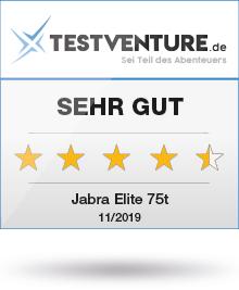 Testlogo Jabra Elite 75t Sehr Gut Testventure