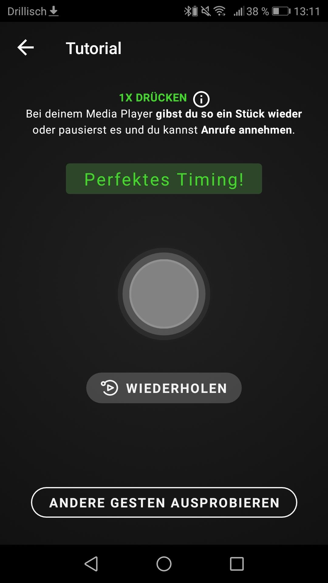 Razer Hammerhead App Screenshot Gestensteuerung Tutorial