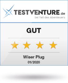Testlogo Wiser Plug Gut Testventure