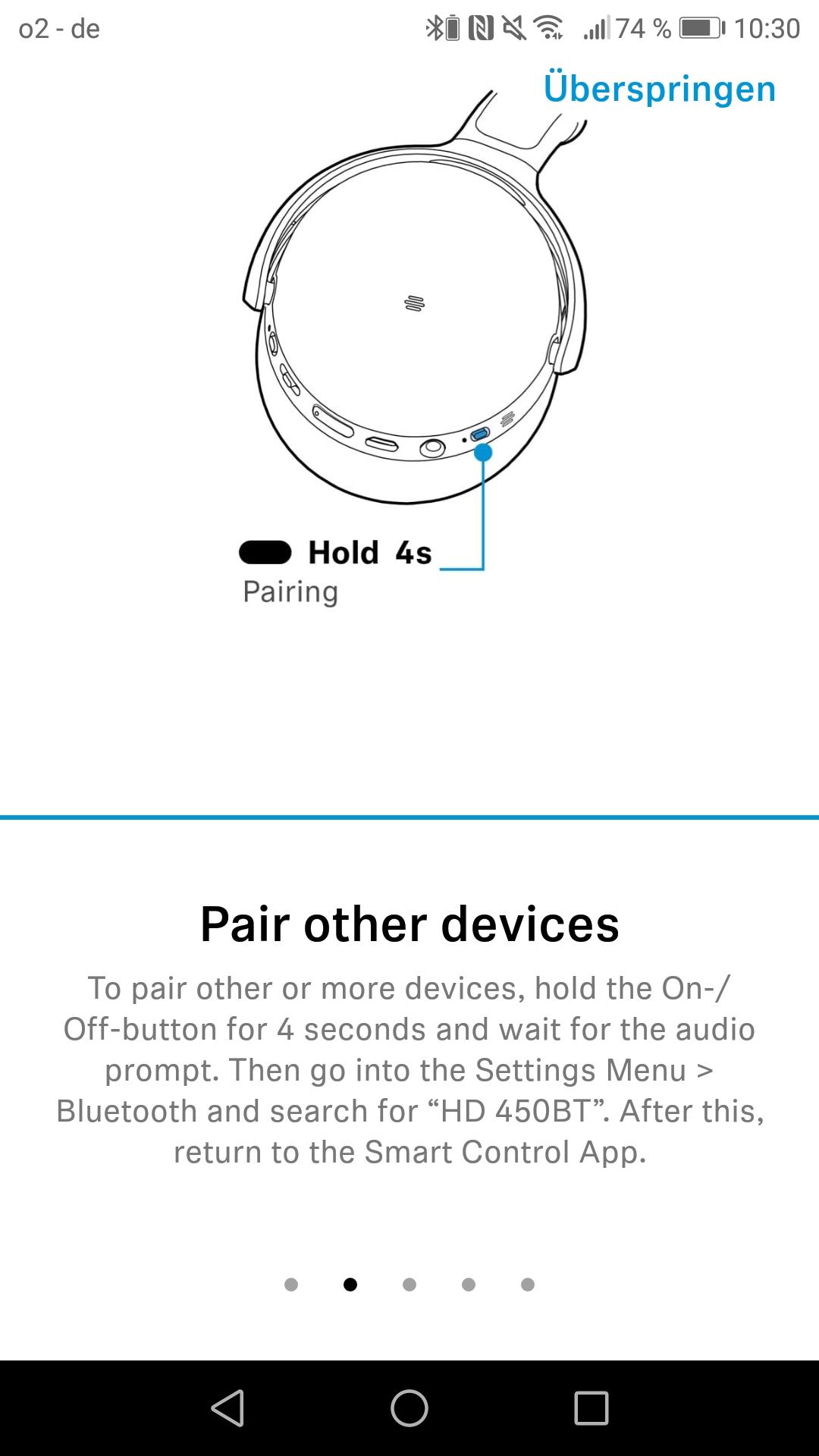 Bedienung Sennheiser HD 450BT Screenshot Pair other devices