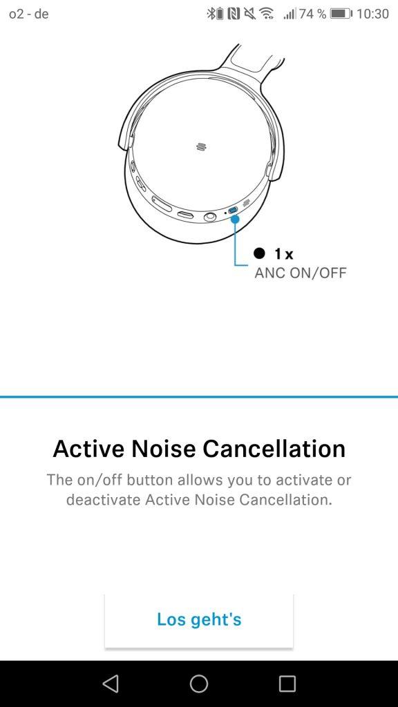 Bedienung Sennheiser HD 450BT Screenshot Active Noise Canceling