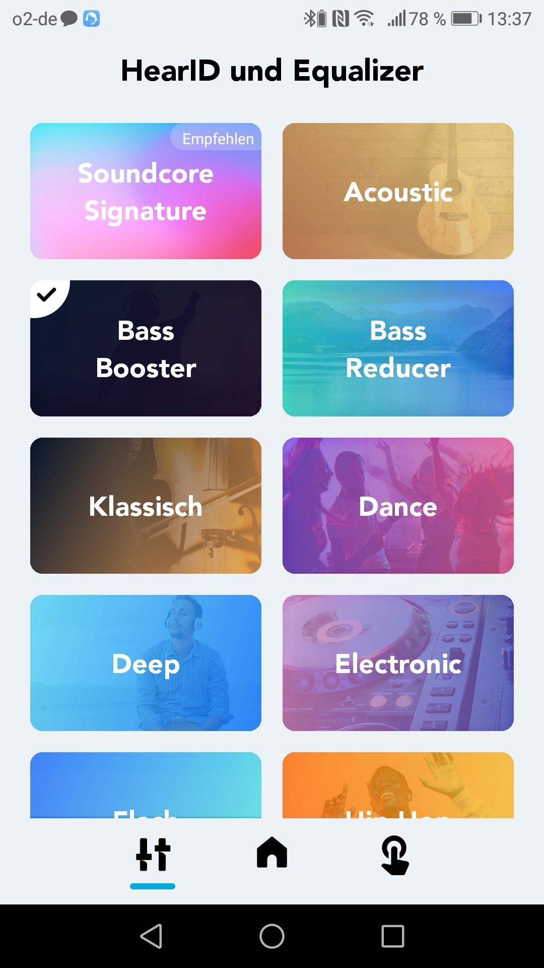 Soundcore App Equalizer Uebersicht