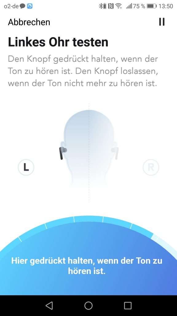 Soundcore App Hear ID Test linkes Ohr