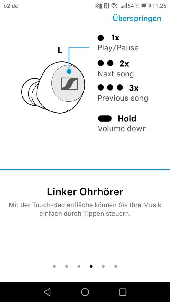 Sennheiser App Steuerung Links