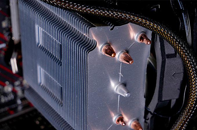Ben Navis CPU Kühler im PC verbaut