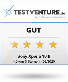 Sony Xperia 10 II Testlogo Award Gut Testventure
