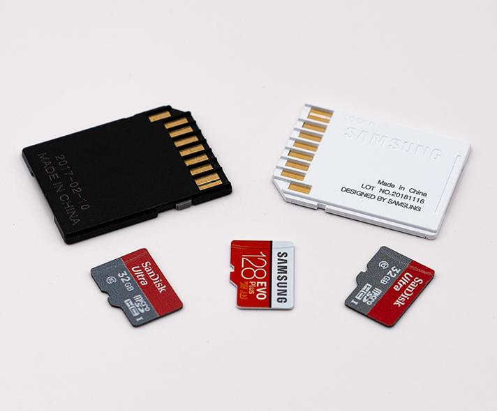 SD Speicherkarten mircor SD mit Adapter uebersicht