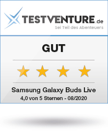 Testsiegel Samsung Galaxy Buds Live Gut bei Testventure
