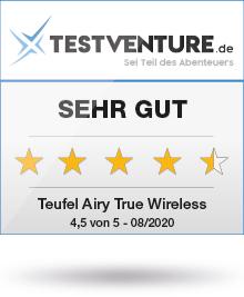 Teufel Airy True Wireless Testlogo Award Testventure Sehr Gut