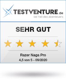 Razer Naga Pro Testsiegel Sehr Gut bei Testventure