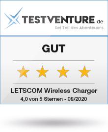 letscom wireless charger ladepad award testsiegel gut testventure