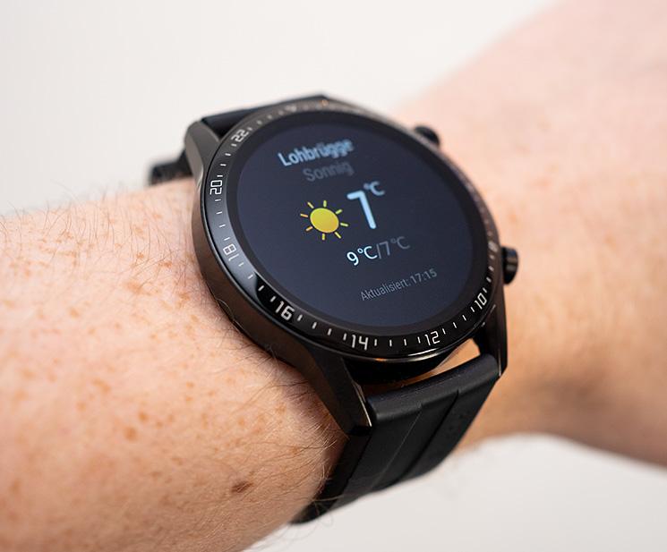 Smartwatch mit Wetteranzeige