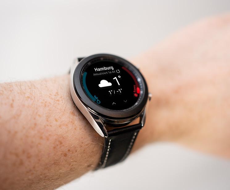 Smartwatch am Arm