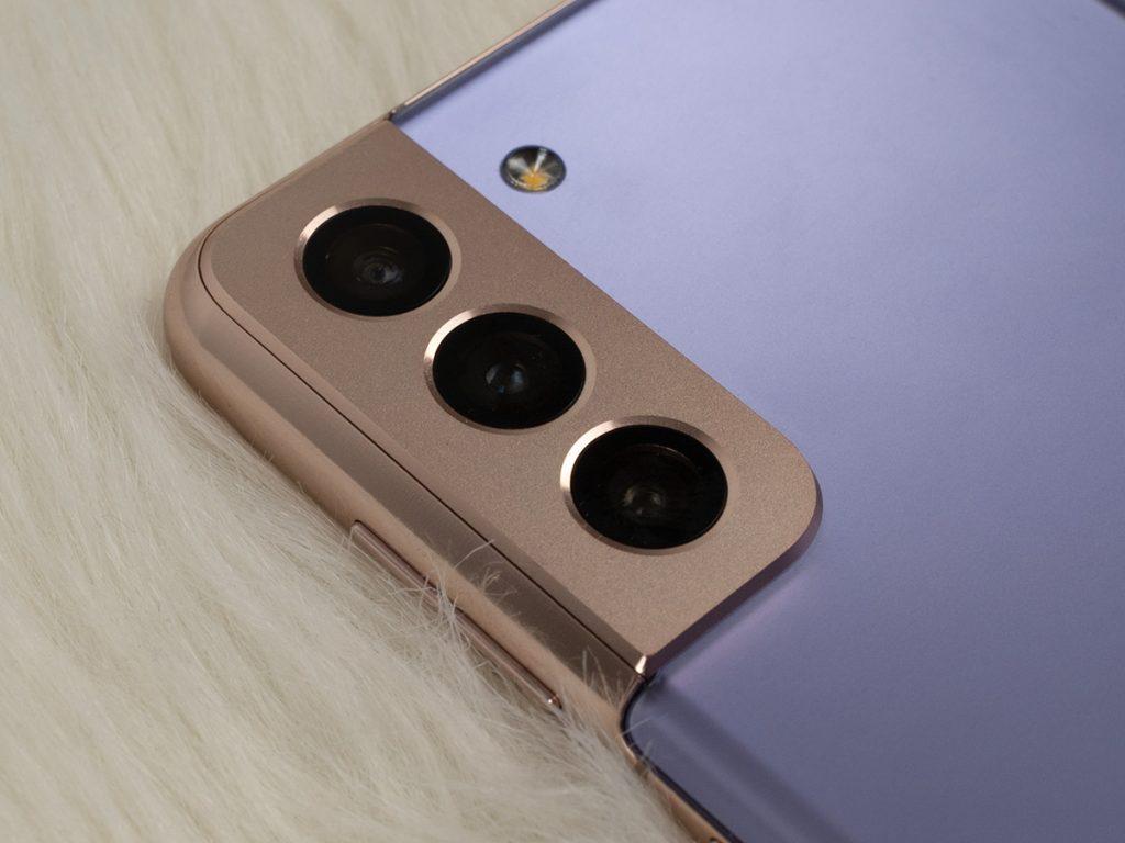 Abbildung zeigt die Kamera des Galaxy S21+ Smartphones
