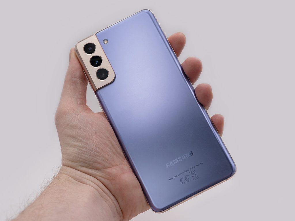 Abbildung zeigt die Rückseite des Samsung S21 Plus 5G Smartphone