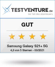 Abbildung zeigt das Testsiegel für das Samsung Galaxy S21
