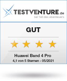 Abbildung zeigt das Huawei Band 4 Pro Testlogo von Testventure